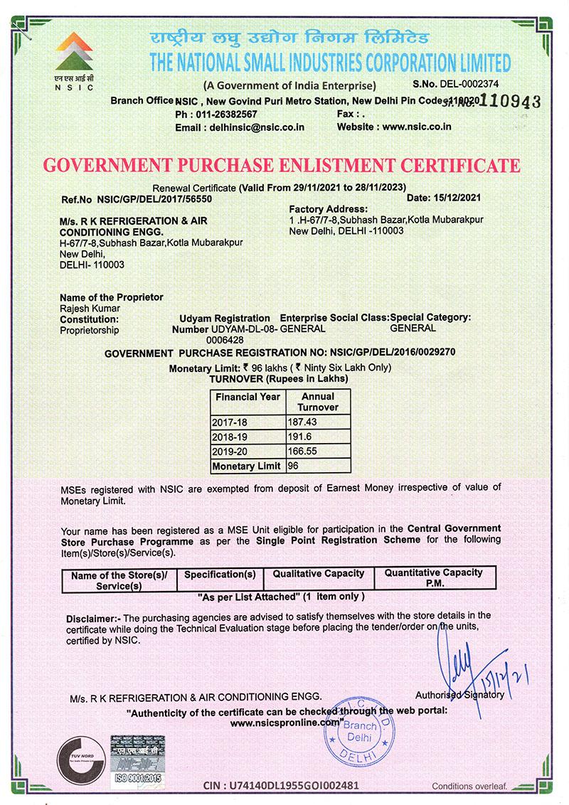 Air Conditioning Certification Tollebild